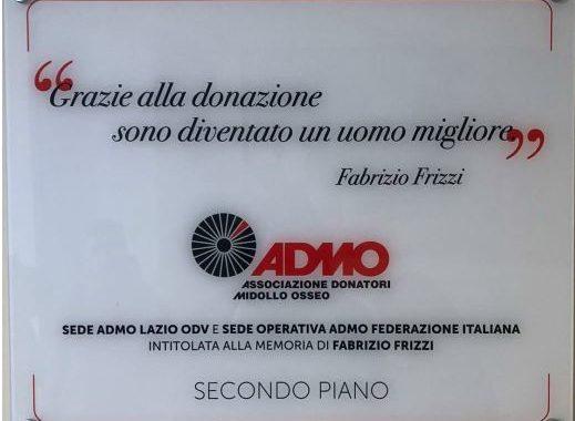 Intitolata a Fabrizio Frizzi la sede di ADMO Lazio